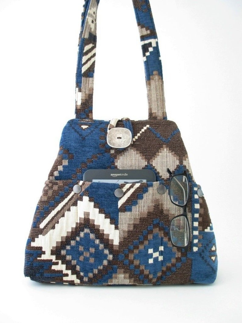 fabric shoulder bag converts to tote bag handmade handbag image 0