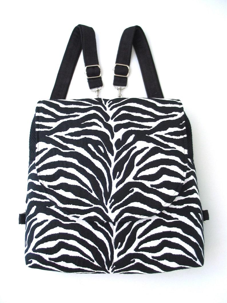womens backpack purse animal print bag fabric handbag image 0