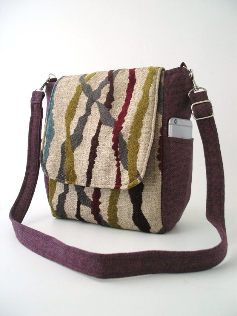 unique backpack crossbody purse fabric handbag tapestry image 0