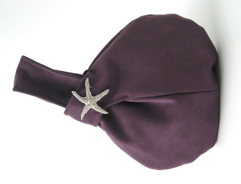 purple knot purse wristlet bag purple handbag party purse image 0