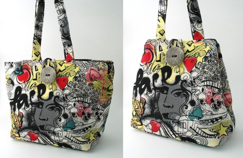 large handbag black purse tote bag convert to hobo art image 0