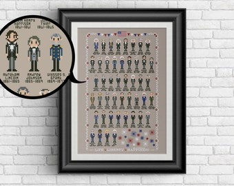 US United States Presidents - presidential PDF cross stitch pattern (NOW updated to Joe Biden!)