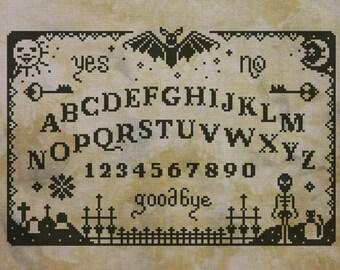Primitive Ouija Board - PDF cross stich pattern