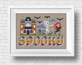 Spooky - Halloween Wor(l)ds - PDF cross stitch pattern