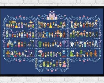 Epic Storybook Princesses - PDF cross stitch pattern