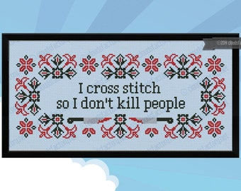 I cross stitch Quote - PDF cross stich pattern