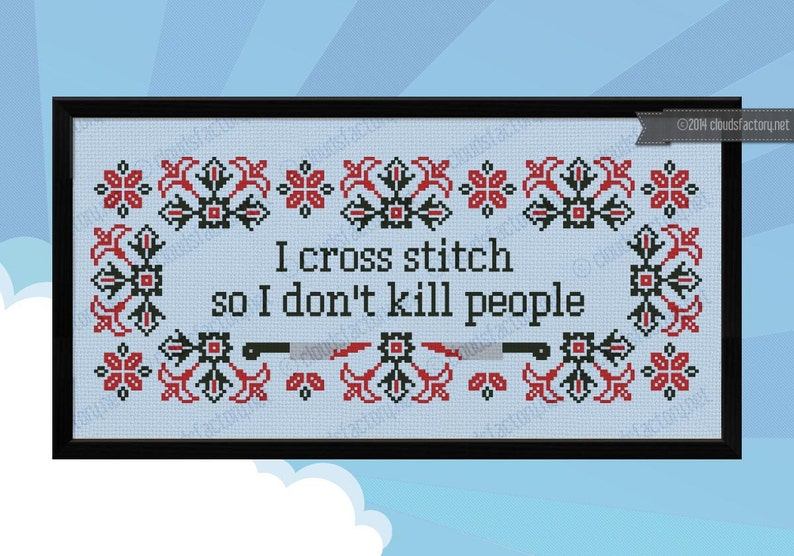 I cross stitch Quote  PDF cross stich pattern image 0