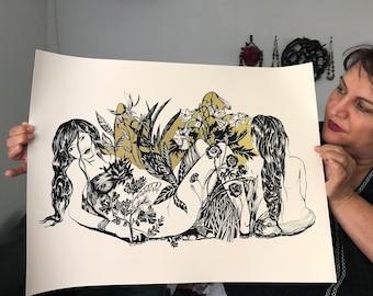 "Print Sale  Ritual magic"" moonbathing"""