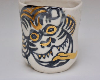 paper tiger puppet cup