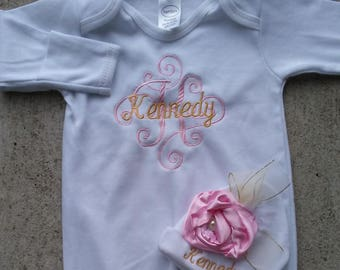Personalized Baby Girl Clothes, Newborn Girl Take Home Outfit, personalized baby gifts, baby girl clothes, take home outfit, trendy baby