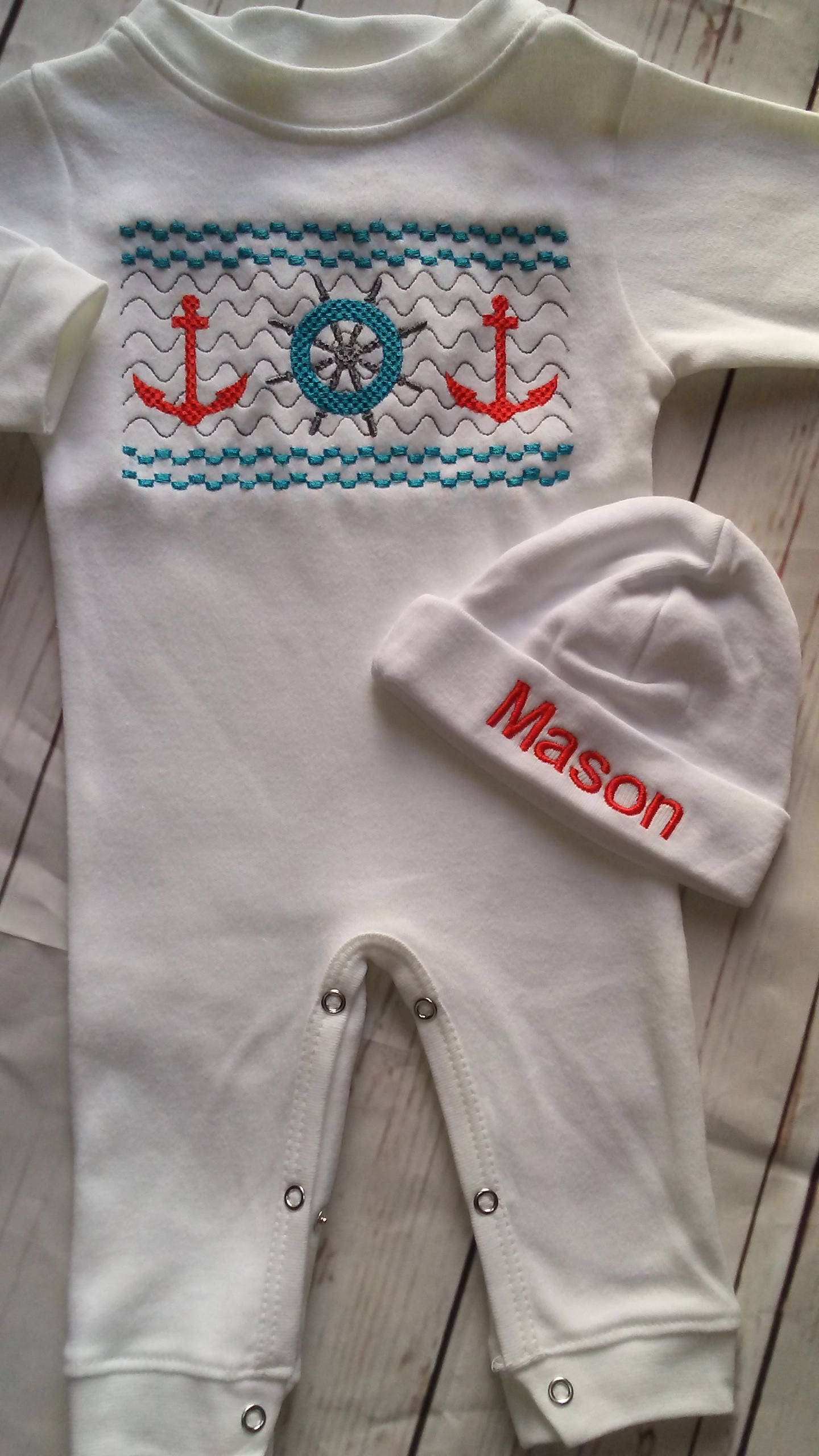 4b23ed9539f Newborn Boy Coming Home Outfit Baby Boy Hospital Outfit Take Me Home  Newborn Baby Gift Baby Boy Clothes Personalized Newborn hat nautical