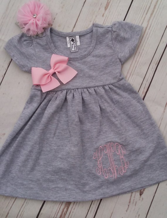c9129d5b552 Personalized Baby Girl Dress Newborn Coming Home Outfit Baby