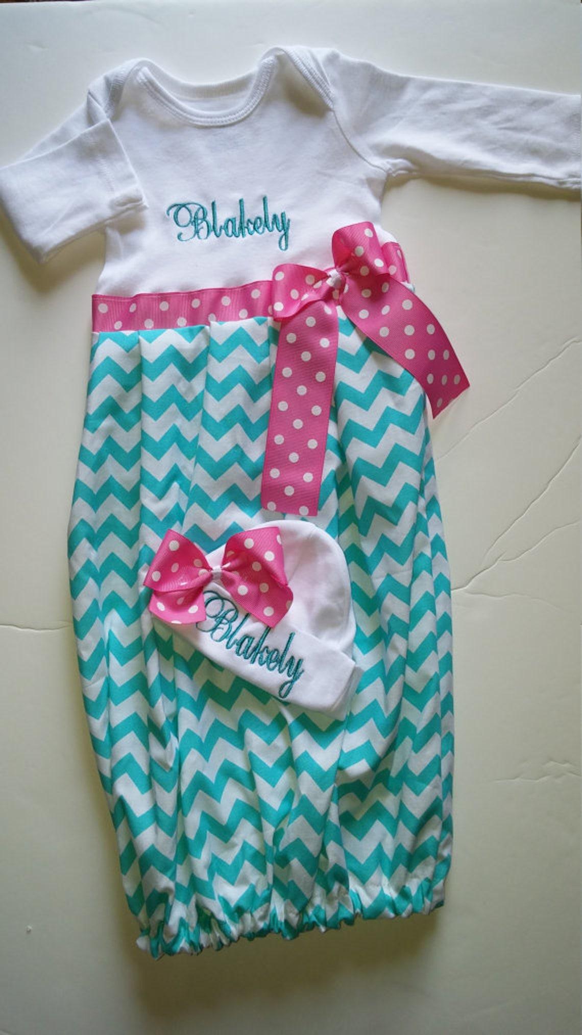 47d6b68fd3c3 Newborn girl coming home outfit newborn layette gown newborn
