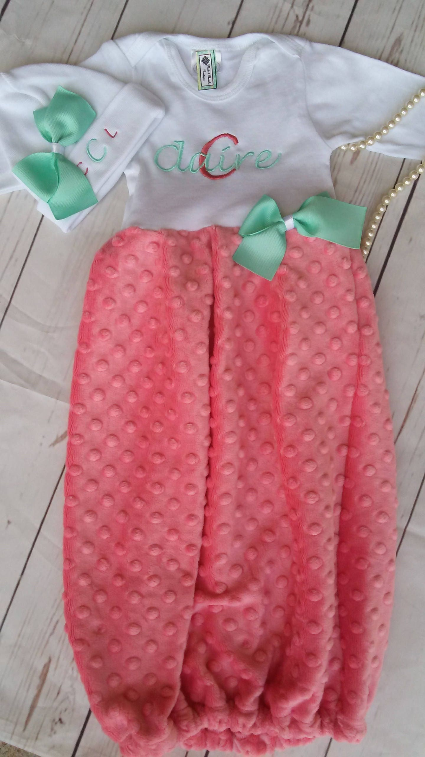 Coming Home Outfit Baby Girl Newborn Girl Take Home Outfit Mint ...