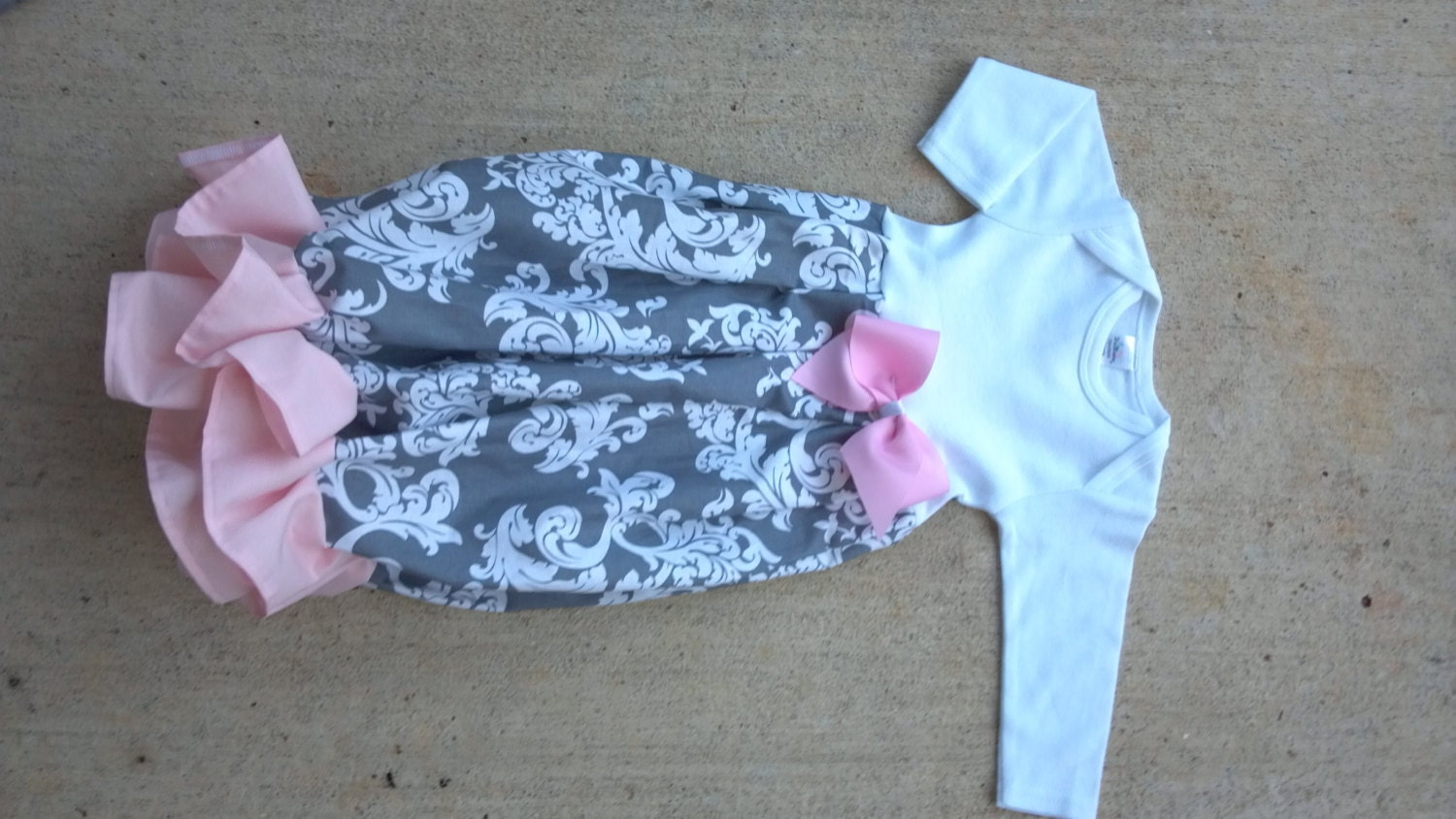 baby girl gown, going home outfit, infant gown, newborn gown ...