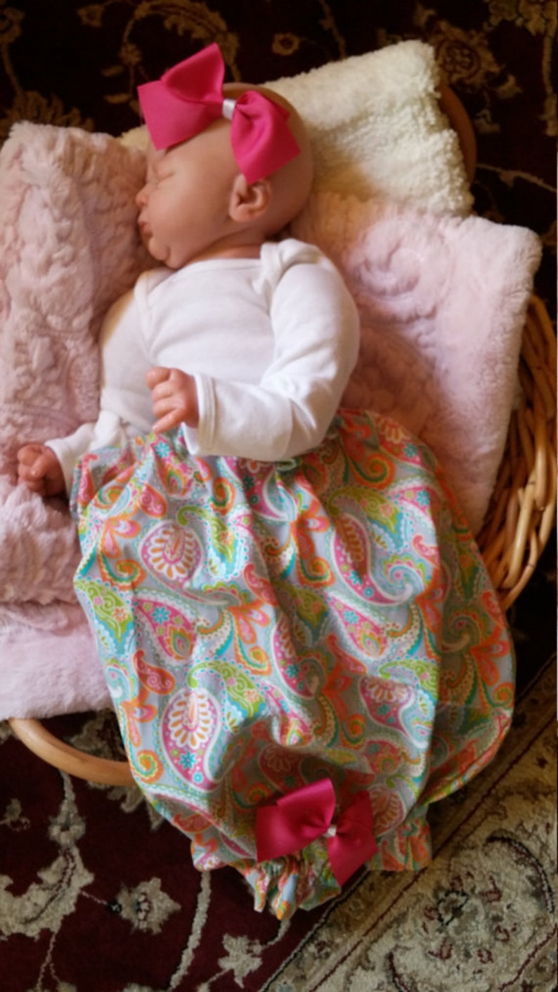 newborn clothes Newborn baby girl coming home outfit baby gift baby girl clothes baby girl gown take home outfit pink paisley