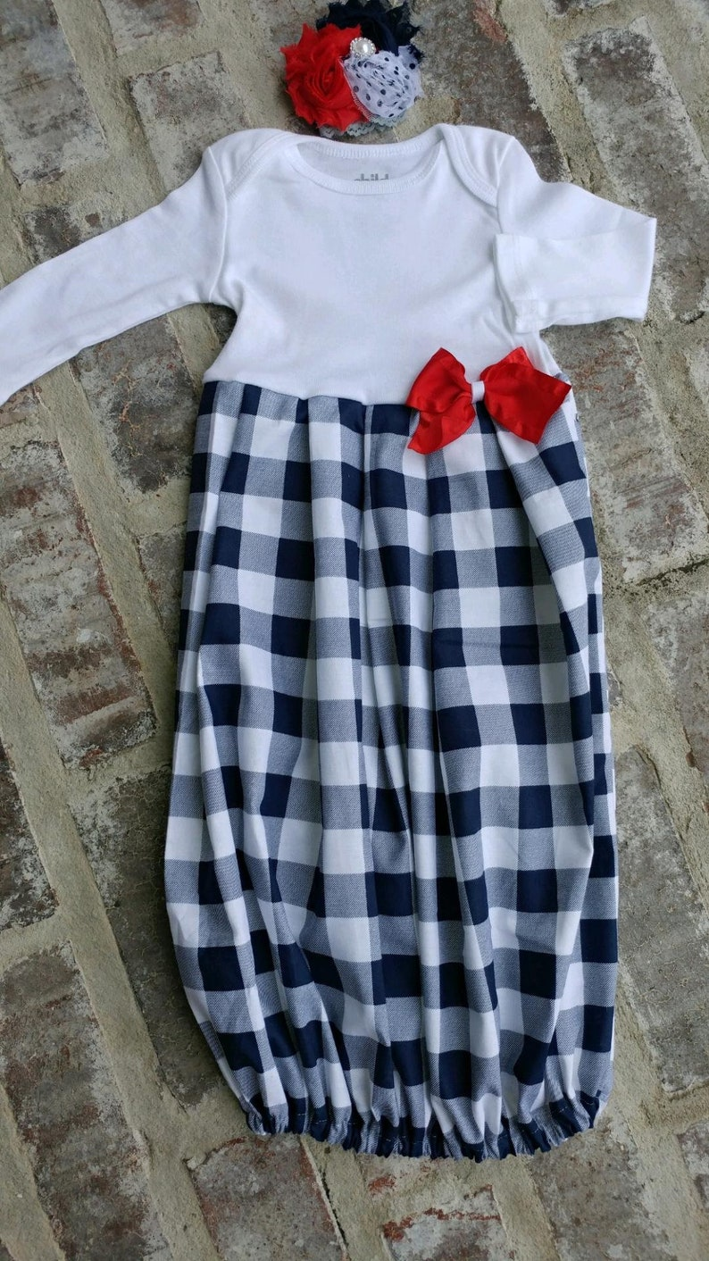 fffa13a18167 Newborn Girl Coming Home Outfit Personalized Buffalo Plaid