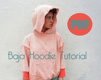 Baja hoodie,sweatshirt tutorial- Make your own pattern