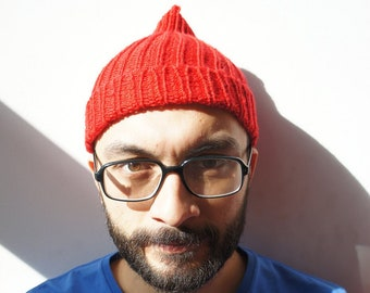 Steve Zissou Hat-Red Beanie,Gift for him,party favor,collectable