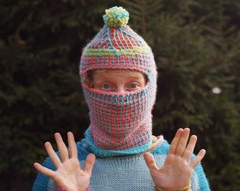 Handmade Unique Crochet Balaclava/Mask- Ski mask, winter hat