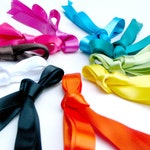 Satin Ribbon Bright Spectrum Shoe Laces - Extra Super Long Knee High Boot Shoelaces - 200 Inches - CHOOSE YOUR COLOR