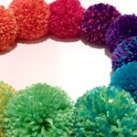 """Pompoms In Your Choice Of Color, 1"""" 2"""" 3"""" 4"""" Sizes - Handmade Custom Pom Poms Rainbow Christmas Ornament Garland Wholesale Options Available"""