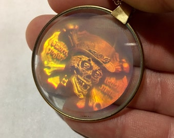 Hologram pendant etsy skull hologram pendant necklace aloadofball Choice Image
