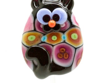 OOAK ready to ship Margo lampwork beads cat