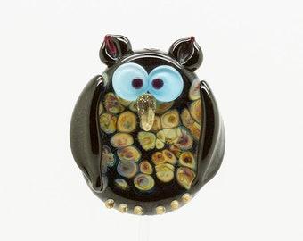 ready to ship Margo lampwork beads owl
