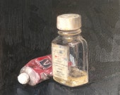 "Original Oil Painting Art Supplies Still Life Canvas 8x8"" Barton"