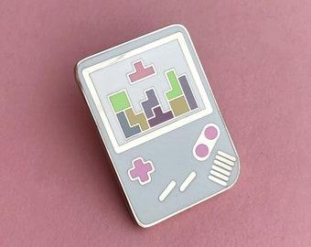 Pastel Gameboy Tetris Enamel Pin Badge, Lapel Pin, Tie Pin