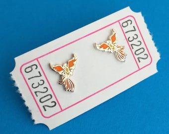 Phoenix Enamel Stud Earrings