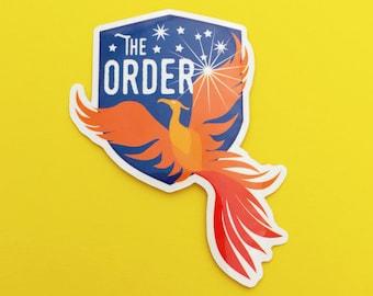 The Order of the Phoenix Vinyl Sticker - Phoenix Sticker - Harry Potter Sticker