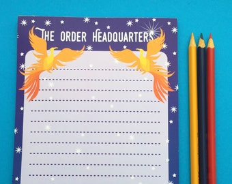 The Order of the Phoenix Headquarters Notepad - A5 Harry Potter Notepad