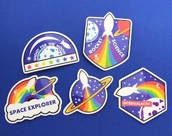 Rainbow Rocket Vinyl Sticker Pack