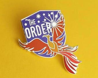 The Order of the Phoenix Enamel Pin - Phoenix Badge - Harry Potter Enamel Pin