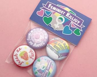 Feminist Killjoy Badge Pack 2 - Button Badges