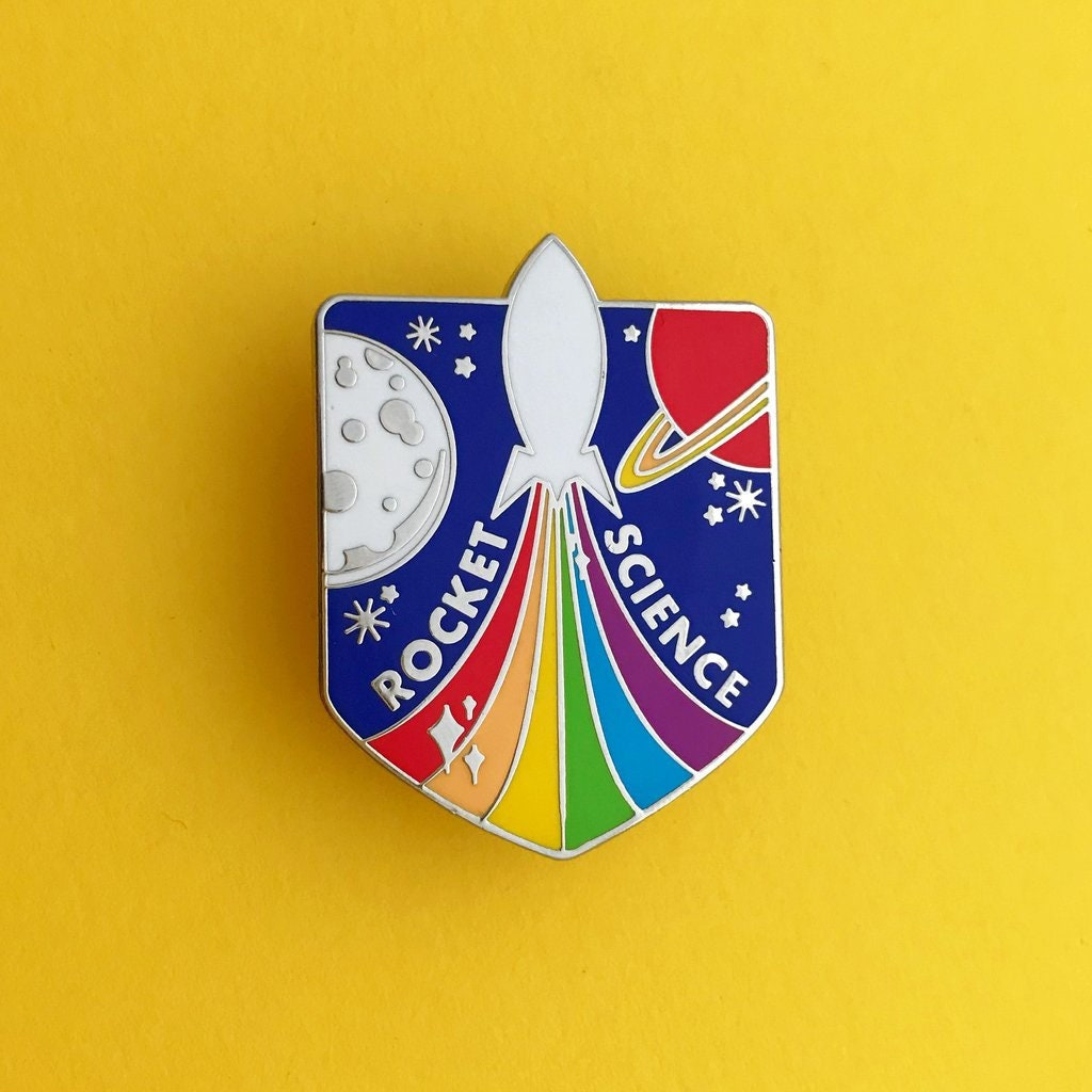 Rocket Science Rainbow Rocket Enamel Pin