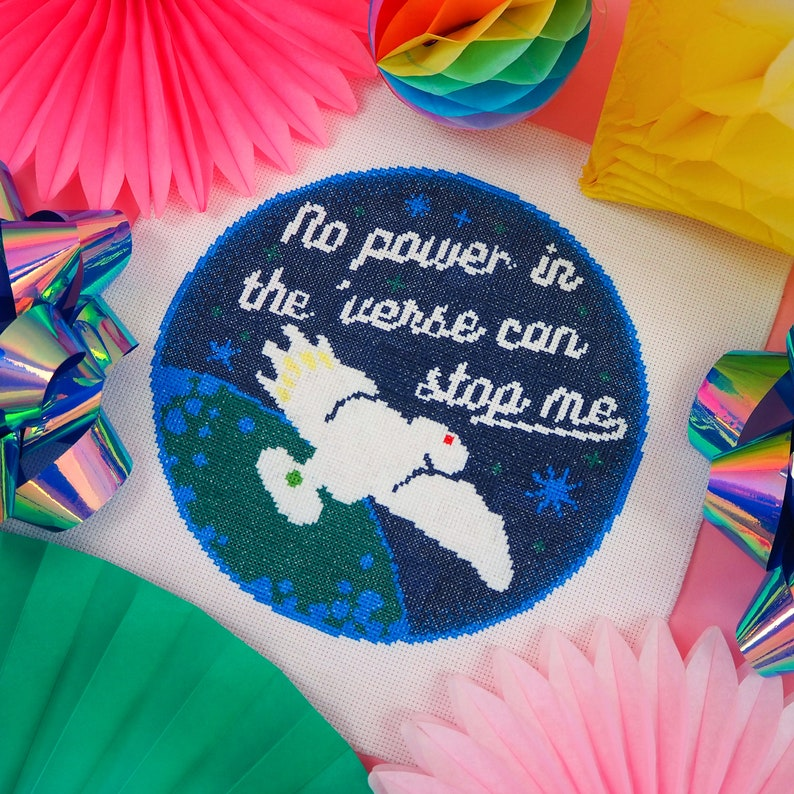 No Power In The 'Verse Can Stop Me Cross Stitch Pattern image 0