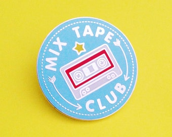 Mix Tape Club Enamel Lapel Pin Badge