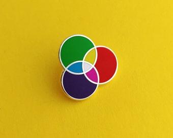 RGB Enamel Lapel Pin - Rainbow Pin Badge
