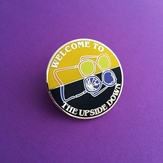 Welcome To The Upside Down Enamel Lapel Pin Badge Etsy