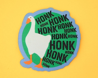 HONK HONK HONK Iron On Patch - Untitled Goose Game Patch