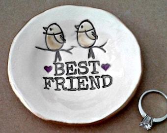 Best Friend Ceramic Trinket  Ring Bowl