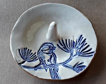 Ceramic Bird Ring Holder Ring Dish Ring bowl gold edged   Wholesale  available
