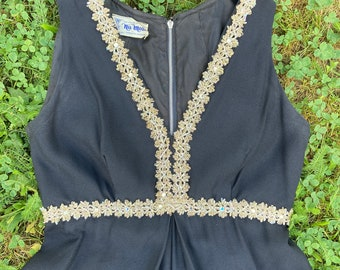 Nu Mode Vintage The House of Nu-Mode Formal Romper Onesie Made in Toronto Evening Wear Size Small
