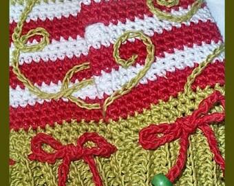 Holiday - PDF Pattern - Mr Grinchy Crochet Fingerless Gloves - Child size