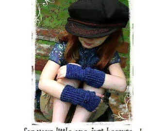 REVISED Now 12 PATTERNS Childrens Crochet Fingerless Gloves eBook PDF  Pinkie Jane