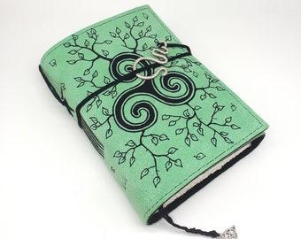 Triskelion, Handmade Leather Journal, Notebook