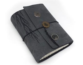 Buttons, Handmade Leather Journal, Notebook